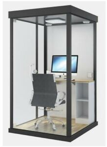 Mobile Soundproof Booth- Workstation  - Acoustic Cabin - SMALL OFFICE