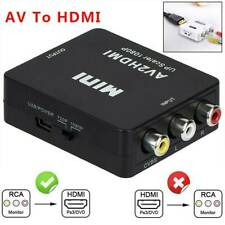 Composite Hdmi to Av Cvbs Rca Audio Video Converter Adapter Cable Connect 1080p