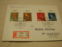 Germany 1963 First Day Cover Bird Stamps