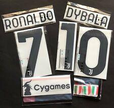 JUVENTUS RONALDO DYBALA SET UFFICIALE HOME/3RD 2020-2021 OFFICIAL NAMESET