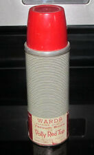 Vintage Thermos Wards Vacuum Bottle w/ Polly Red Top Montgomery Ward Hot & Cold