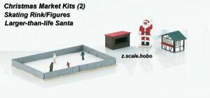 Marklin Z Christmas Building Kits Ice Skating Rink Santa Market Stalls *NEWinUSA