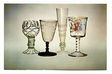 English Glass Postcard Corning Museum of Glass New York Goblet Flute Ravenscroft