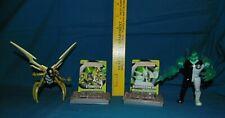 Ben 10 Diamondhead & Stinkfly figures Battle Version - Bandai alien card stand