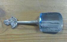 Solid Silver Tea Caddy Spoon by Berthold Mueller - Scottish Hallmarks