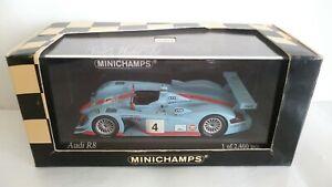 AUDI R8 24H LE MANS 2001 MINICHAMPS SCALA 1/43