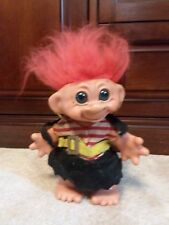 "Vintage 1960's Troll Doll Bank Red Hair Pirate  8"" Dam Things"