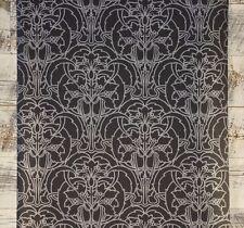 3 ROLL LOT Silver on Black Modern Damask Classic Designer Wallpaper
