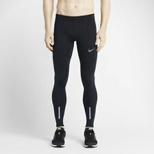 Mens Nike Power Tech Tight Running Training Leggings Trousers Medium M - Black