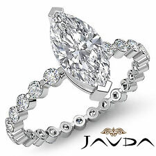Precioso Marquesita Anillo de Compromiso Diamante Vintage GIA i SI1 14k Oro