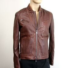 $5650 New Gucci Leather Jacket w/Removable Shearling Inner EU 48/US 38, 295692