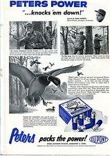 1957 Du Pont Peters Packs The Power High Velocity 12 Ga. Shotgun Shells Ad