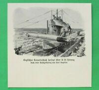 UM3) Marine U-Boot Englischer Torpedo U 35 1914-1918 Unterseeboot Submarine 1.WK