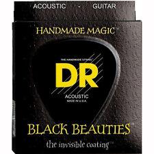 DR BKA-11 K3 Coated Phosphor Bronze Black Beauties Acoustic Guitar Strings 11-50