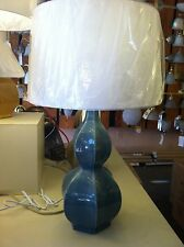 """27.25"""" Earth Color Table Lamp   Bed Side Light Includes Shade SOLD IN PAIRS."""