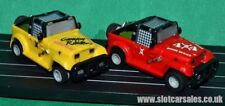 COPPIA Micro Scalextric MR1 MARCHON Jeeps Canyon RAIDER & DOOM Buggy / SLOT CAR