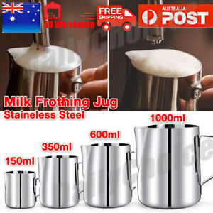 Stainless Steel Milk Frothing Jug Frother Coffee Latte Container Pitcher 4 Sizes