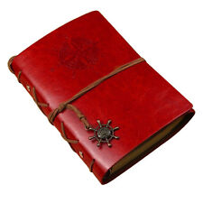 Vintage Retro Leather Journal Travel Notepad Notebook Blank Diary Book Gift Red