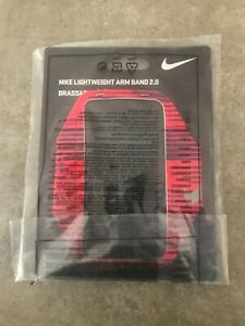 Nike Lightweight Arm Band 2.0 Running  Fitness Cell Phone Holder -Pink/Red