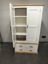 SHABBY PAINTED 2 DRAWER LINEN STORAGE CUPBOARD RUSTIC BESPOKE SIZES & COLOURS