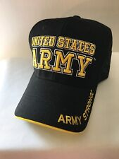 badb8cf7089 US Army Licensed Black Embroidered Military Baseball Cap Hat Army Strong