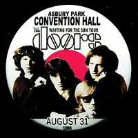 """THE DOORS 1968 ASBURY PARK NJ Convention Hall 3"""" Pin Back Button"""