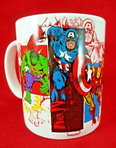 Marvel Comics Mug Thor Hulk Iron Man Spider-Man Captain America Avengers M Logo