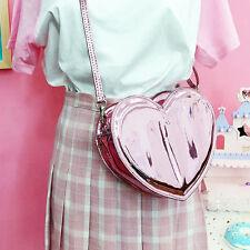 Shiny Metallic HEART Bag handbag cute kawaii sweet harajuku bag decora cyber