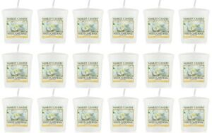 18 YANKEE CANDLE White Gardenia Votives/Sampler  - Clearance - 50% Off RRP