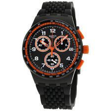 Swatch Archi-Mix Nerolino Black Dial Silicone Strap Men's Watch SUSB408