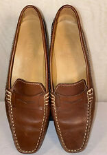 TOD's Camel Brown Leather GOMMINO Penny Loafers Size 7 1/2 EUR 37 1/2 Slip Ons