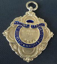 Argento E Smalto Società Nazionale del Club di FUCILE in MINIATURA-La MEDAGLIA di tiro 1938