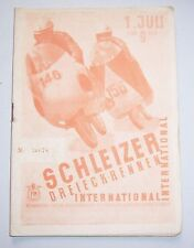 Program Schleizer Dreieckrennen International 1956 GDR Motor Sports