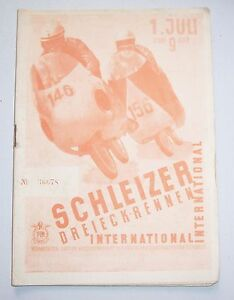 Program Schleizer Dreieckrennen International 1956 GDR Motor Sports