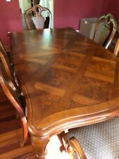 """Thomasville """"British Gentry"""" Dining Room Set (Table, 6 Chairs, 2 Leaves, More!)"""