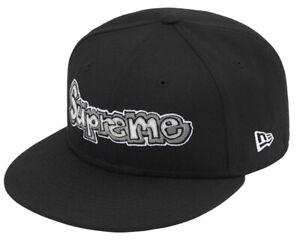 SUPREME HAT *NIB* GONZ LOGO NEW ERA Cap BLACK Size 7 1/4 ~BRAND NEW~ SS21