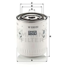 Mann W930/20 Oil Filter Spin On 114mm Height 93mm Outer Diameter Service