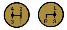Aufkleber Label Sticker für Deutz Schaltschema D5505 Baureihe (15+16)