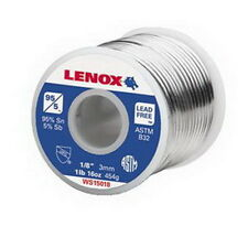 "Lenox 95-5 1/8"" Wire Lead Free Wire Solder, 1 lb Spool"