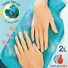 2 Liter Hot Water Bottle Rubber Bag Warm Relaxing Heat Cold Therapy, 12 x 8 Inch