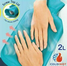 2 Liter Hot Water Bottle Rubber Bag Warm Relaxing Heat Cold Therapy