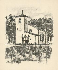 Maurice Utrillo original lithograph