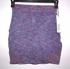 """Parker Size 25"""" Carrie Knit SMS Sample Full Zip Mini Skirt in Bell Flower"""