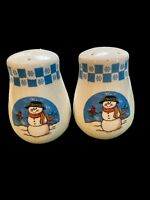 Vintage Snowmen Salt and Pepper Shakers