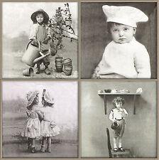 Papel 4x Servilletas-Sagen Vintage Boy & Girl Mix-Para Fiesta, Decoupage
