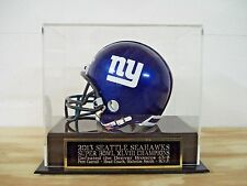 Football Mini Helmet Case With A Seattle Seahawks Super Bowl 48 Champs Nameplate