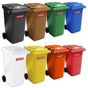 Sulo Mülltonne 120 L grau gelb braun blau grün rot orange weiß aus Kunststoff