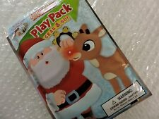 Christmas Holiday Play Pack Grab & Go Color Book, Crayons/Stickers Santa Friends