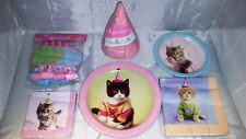 Cat Pet Party in a box for 8. Hats, plates,cups and much more. NOS
