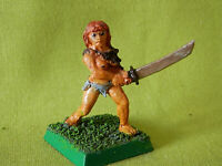 A4 WARHAMMER - FIGHTER BARBARIAN FEMALE 1980S METAL MODEL